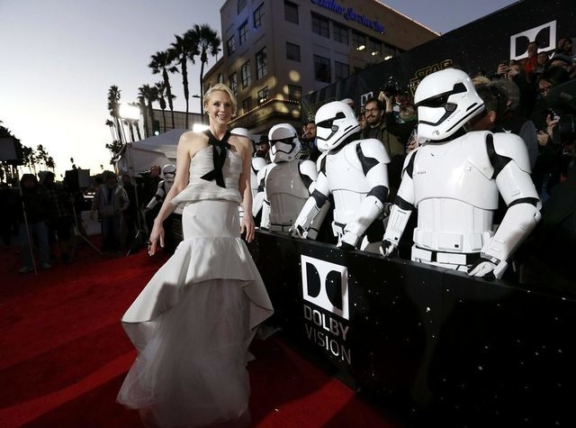 "Actress Gwendoline Christie arrives at the premiere of ""Star Wars: The Force Awakens"" in Hollywood, California December 14, 2015. REUTERS/Mario Anzuoni"