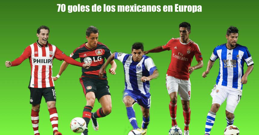 mexicanos europa goles