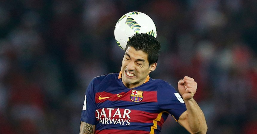 FC Barcelona's Luis Suarez in action Reuters / Yuya Shino