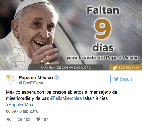 Con el Papa Twitter