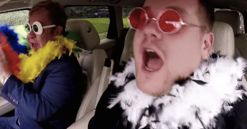 Elton John Carpool Karaoke James Corde