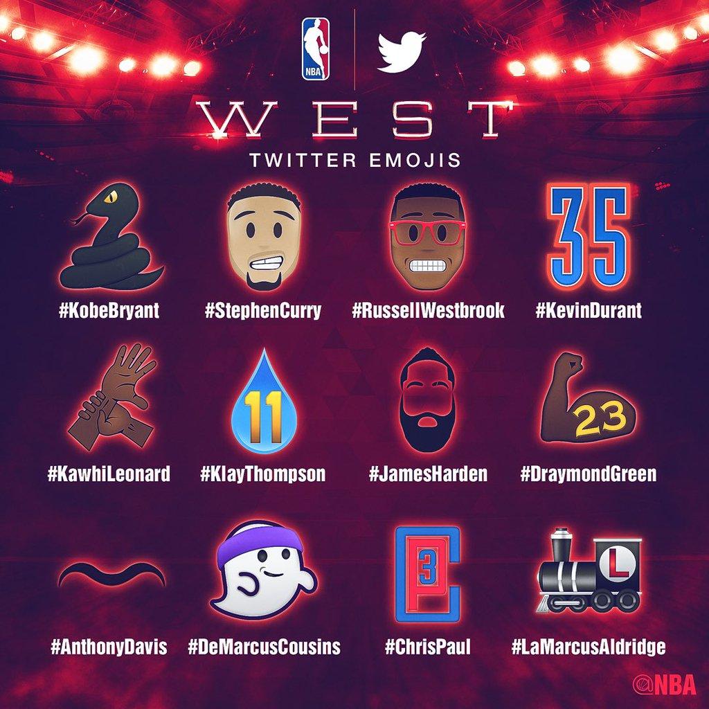 emojis oeste nba all star game