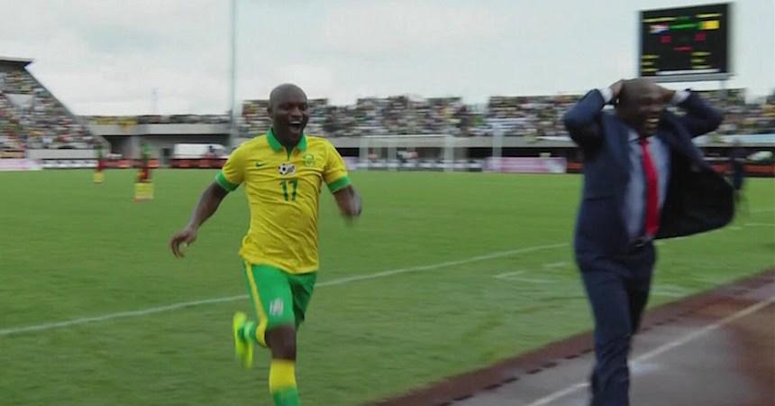Hlompho Kekana Amazing Goal Cameroon vs South Africa