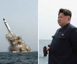 North Korean leader Kim Jong Un oversaw the successful underwater test fire of a ballistic missile, North Korean state news agency, KCNA, said Saturday, May 9, 2015. The missile was launched from a strategic submarine and the test was carried out from a special launch site quite far off the main land, KCNA said, without providing any precise location.