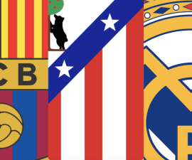 barca atletico real madrid liga