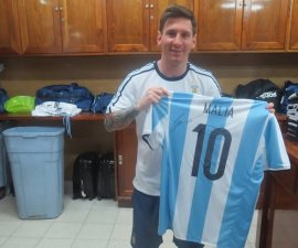 messi playera hijas obama