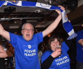 leicester city pizza fans