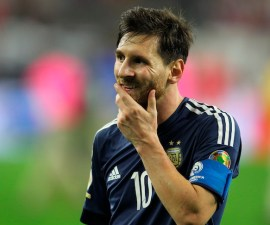 HOUSTON, TEXAS - JUNE 21:  Lionel Messi of Argentina gestures after the Semifinal match between United States and Argentina at NRG Stadium as part of Copa America Centenario US 2016 on June 21, 2016 in Houston, Texas, US. (Photo by Omar Vega/LatinContent/Getty Images)