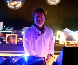 INDIO, CA - APRIL 24:  Musician James Murphy of LCD Soundsystem spins at Despacio during day 3 of the 2016 Coachella Valley Music & Arts Festival Weekend 2 at the Empire Polo Club on April 24, 2016 in Indio, California.  (Photo by Matt Cowan/Getty Images for Coachella)