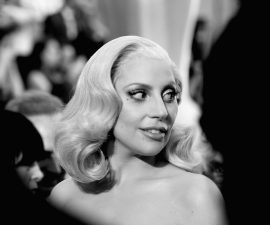 HOLLYWOOD, CA - FEBRUARY 28:  (EDITORS NOTE: Image converted from color to Black and White)  Singer Lady Gaga attends the 88th Annual Academy Awards at Hollywood & Highland Center on February 28, 2016 in Hollywood, California.  (Photo by Frazer Harrison/Getty Images)