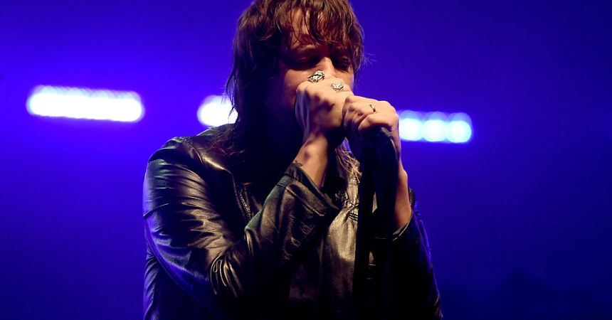 LOS ANGELES, CA - JULY 25:  Singer Julian Casablancas of The Strokes performs at the City of Angels benefit concert at the Wiltern on July 25, 2016 in Los Angeles, California.  (Photo by Kevin Winter/Getty Images)