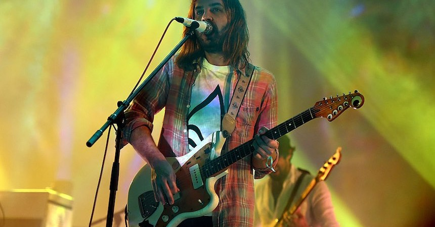 LOS ANGELES, CA - AUGUST 27:  Singer Kevin Parker of Tame Impala performs onstage during FYF Fest 2016 at Los Angeles Sports Arena on August 27, 2016 in Los Angeles, California.  (Photo by Kevin Winter/Getty Images for FYF)