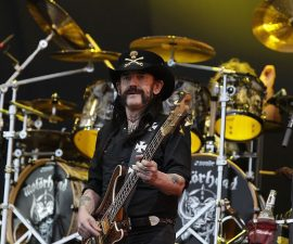 ANSAN, SOUTH KOREA - JULY 26:  Lemmy Kilmister of Motorhead performs on stage during the Ansan Valley Rock Festival on July 26, 2015 in Ansan, South Korea.  (Photo by Chung Sung-Jun/Getty Images)