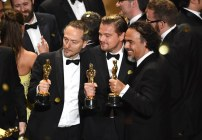 DiCaprio, Lubezki e Iñárritu en los Oscares