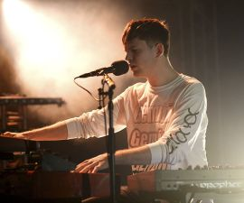 MIAMI, FL - DECEMBER 05:  Musician James Blake performs onstage during the YoungArts And III Points Concert Series on the YoungArts Campus December 5, 2014 in Miami, Florida.  (Photo by Larry Marano/Getty Images for National YoungArts Foundation)
