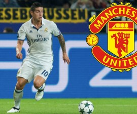 James Rodríguez en el Manchester United