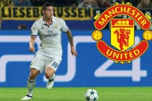 James Rodríguez en el Manchester United