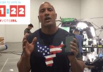 The Rock invita a votar a los estadounidenses