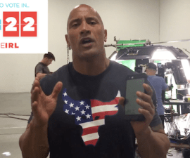 The Rock invita a votar a los estadounidenses