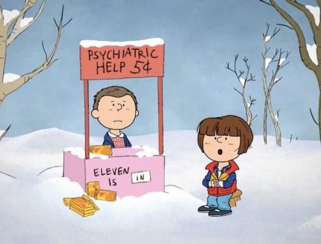 Charlie Brown y Stranger Things Portada