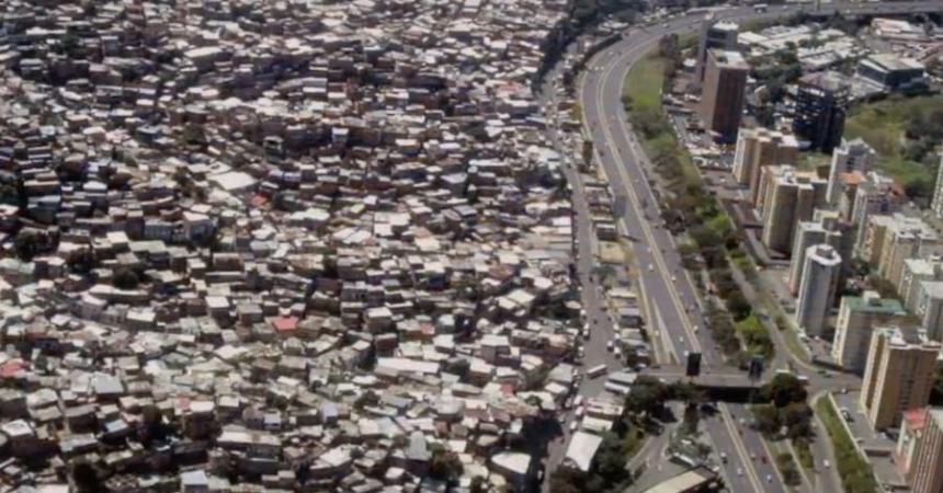 División entre pobreza y riqueza