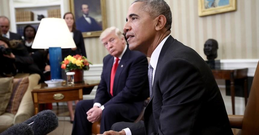Barack Obama y Donald Trump se reúnen en la Casa Blanca