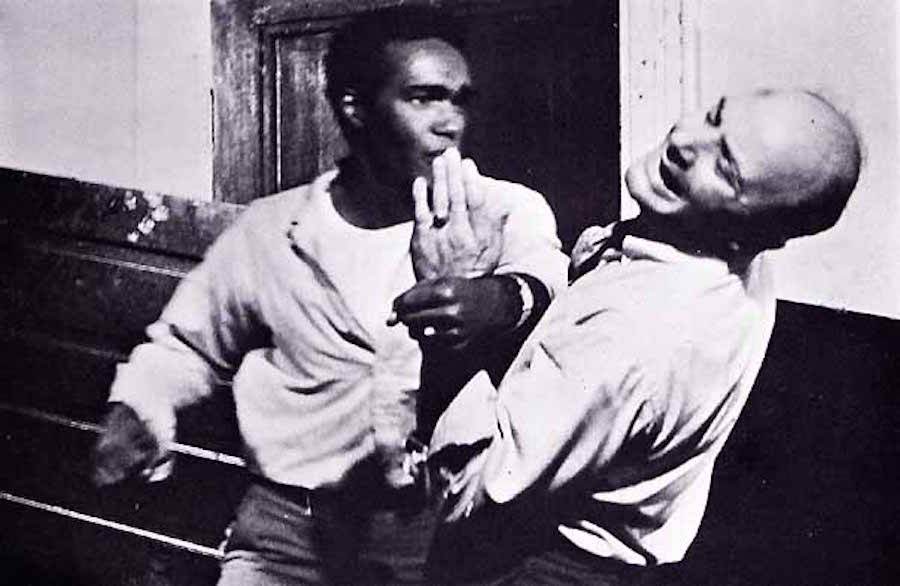 Duane Jones y Karl Hardman