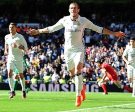 Gareth Bale con el Real Madrid