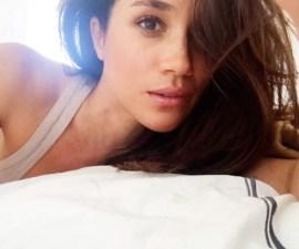 Meghan Markle en su cama