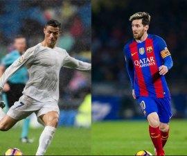 Lionel Messi juega contra Cristiano Ronaldo