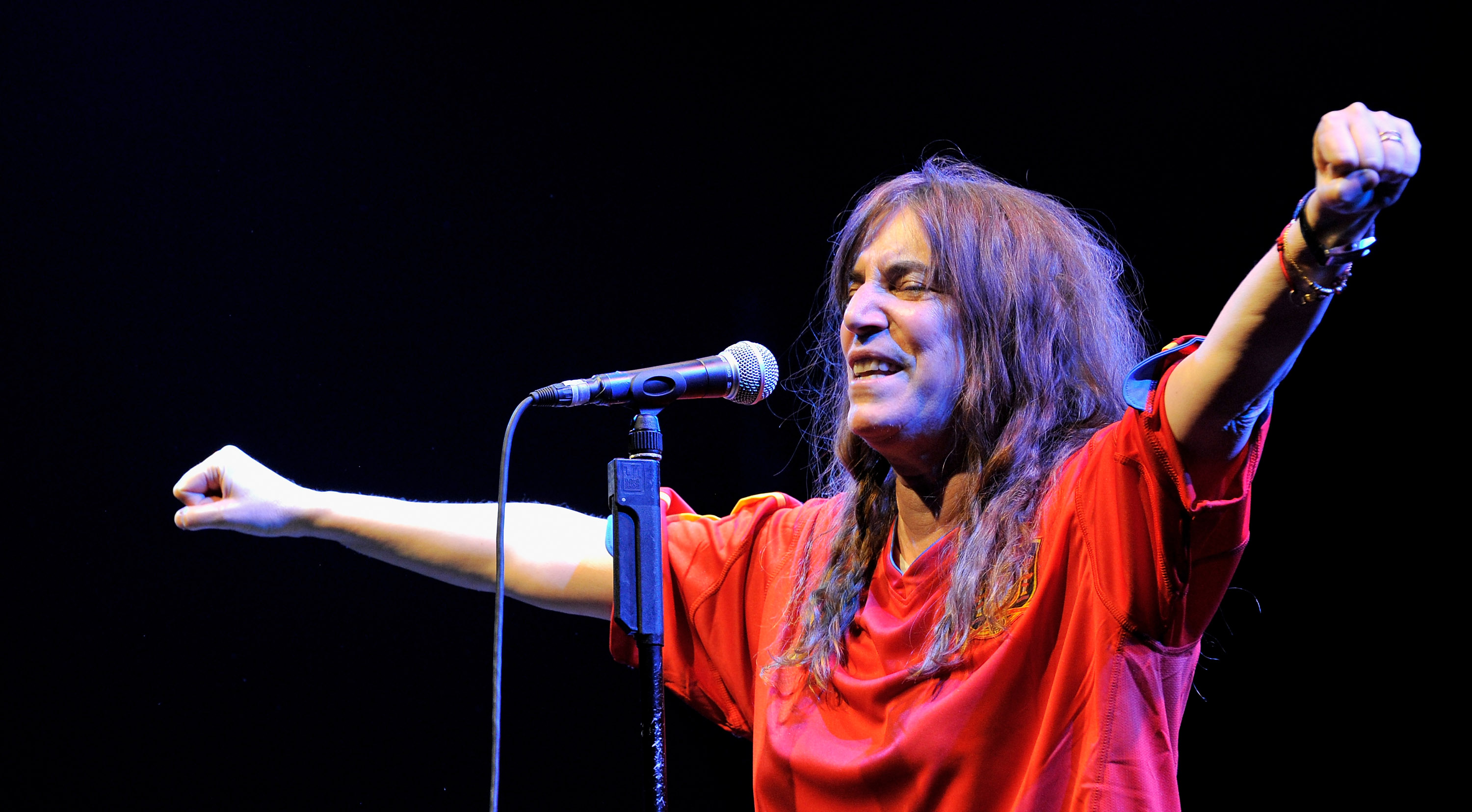 MADRID, SPAIN - JULY 20: American singer Patti Smith performs in concert during