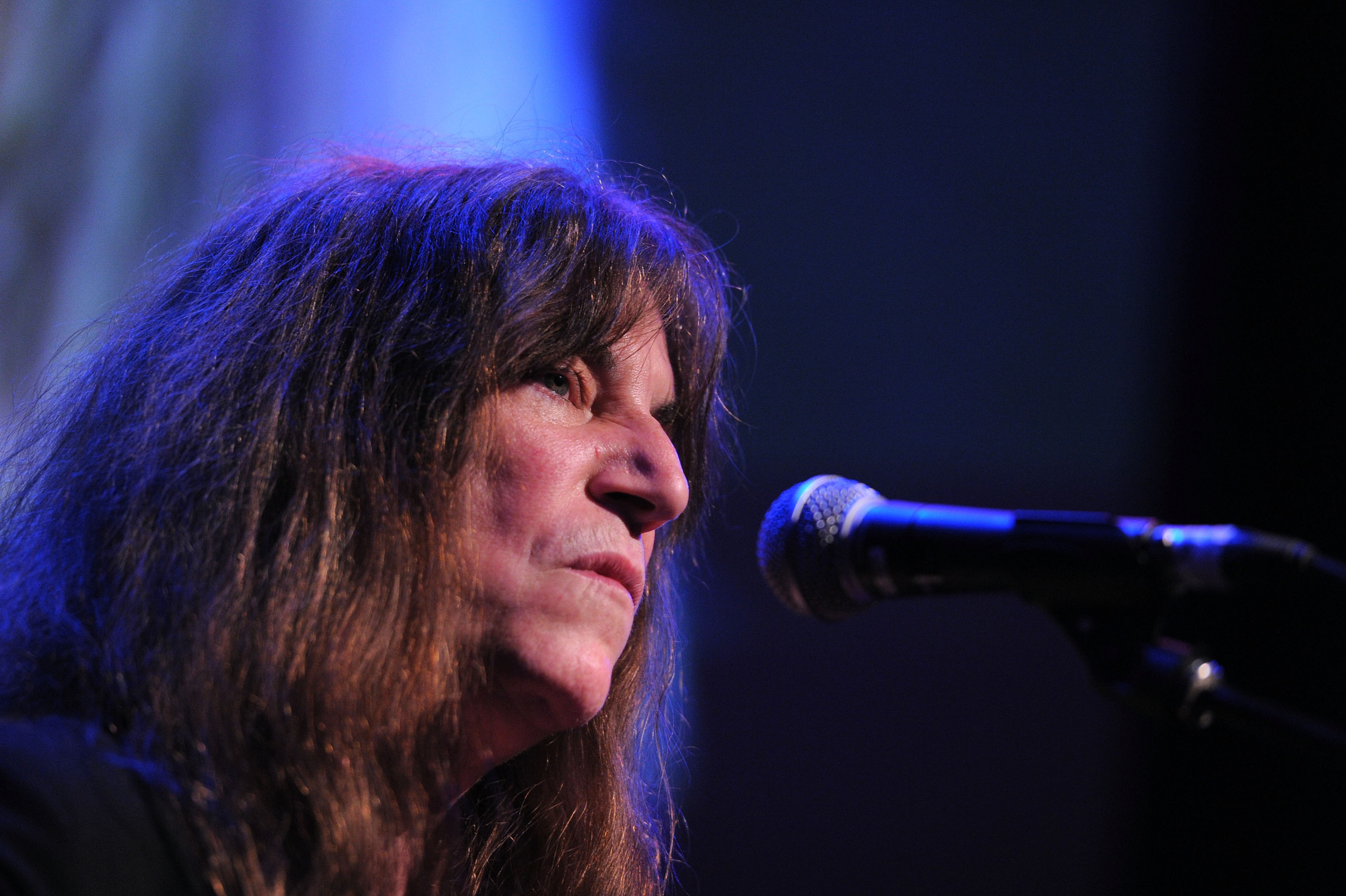 NEW YORK, NY - MAY 17: Musician Patti Smith performs onstage at the 2011 Joyful Heart Foundation Gala at The Museum of Modern Art on May 17, 2011 in New York City. (Photo by Mike Coppola/Getty Images)