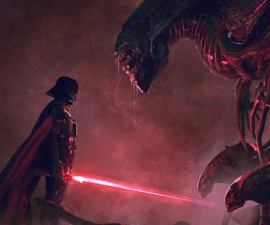 Darth Vader vs la reina Alien