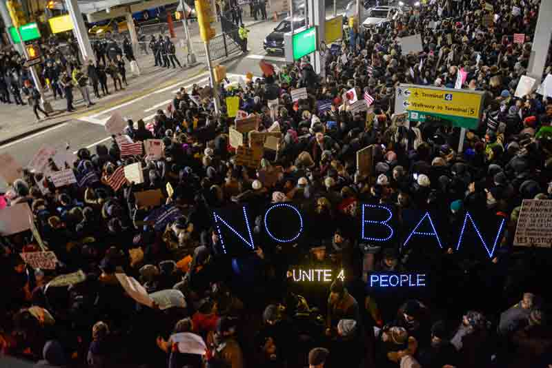 protesta muslim ban nueva york