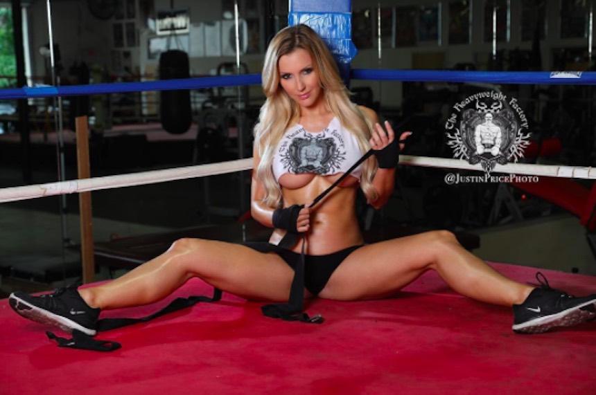 Amanda Paris en el ring