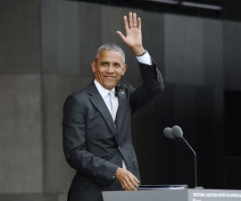 WASHINGTON, DC - SEPTEMBER 24:  U.S President Barack Obama speaks at the opening ceremony of the Smithsonian National Museum of African American History and Culture on September 24, 2016 in Washington, DC. The museum is opening thirteen years after Congress and President George W. Bush authorized its construction.  (Photo by Olivier Douliery-Pool/Getty Images)