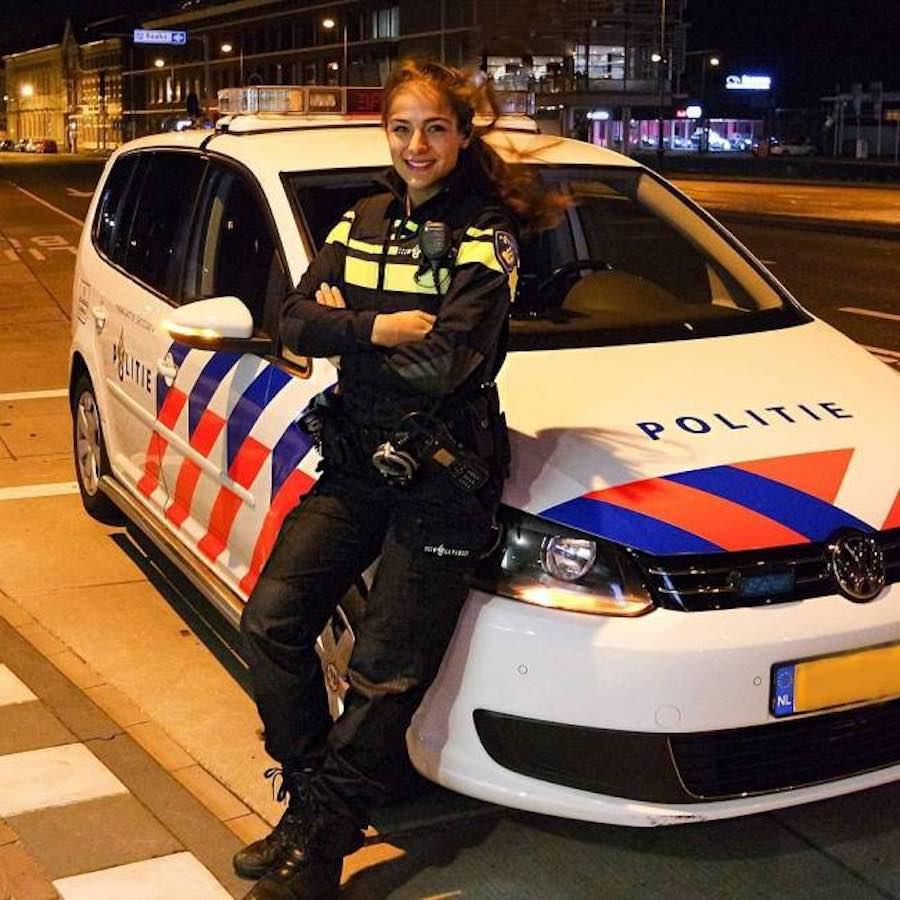 Nochtli Peralta cuando era policía