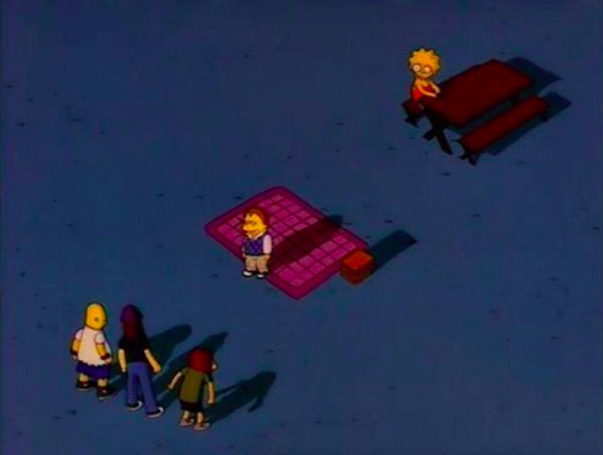 Los Simpson - Nelson y Lisa