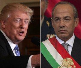 Felipe Calderón y Donald Trump