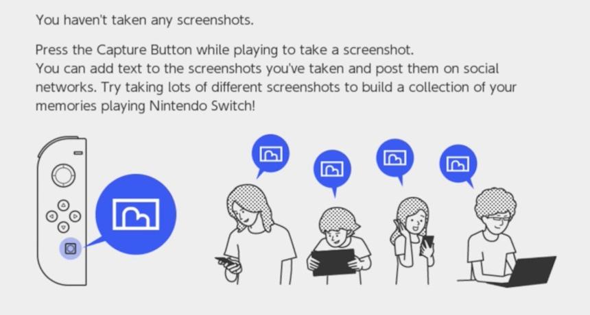 Configuración de fotos en Nintendo Switch