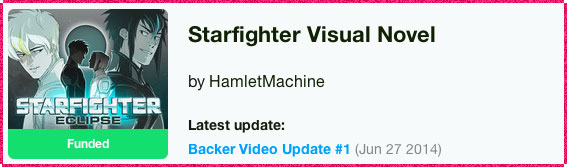 Starfighter Visual Novel Kickstarter