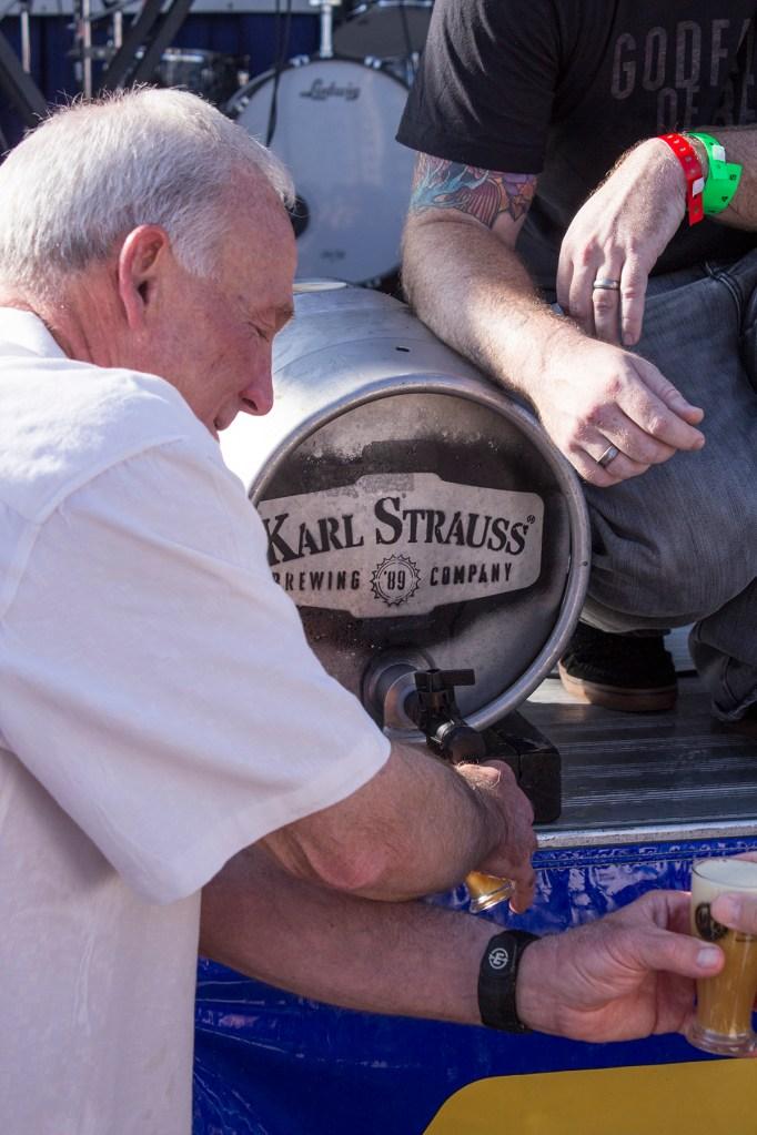 Mayor Sanders pours me a beer