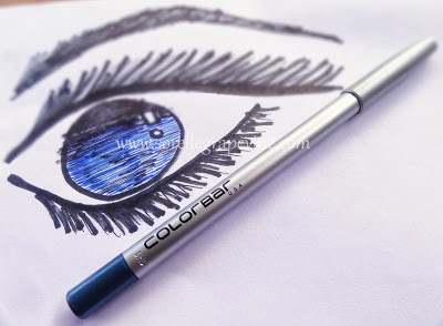 Colorbar I-Glide Eye Pencil Flirty Turq 007 - Swatch and Review