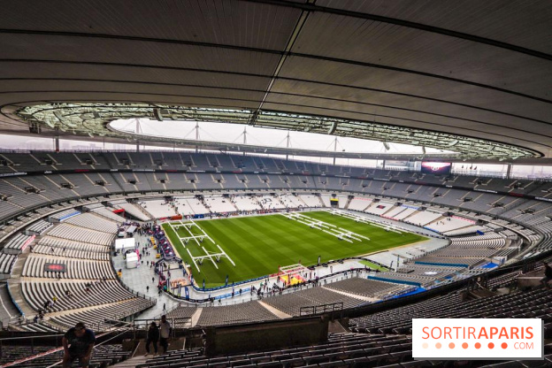 2018 FIFA World cup  the final broadcast at the Stade de France         Spartan Race Paris Stade de France