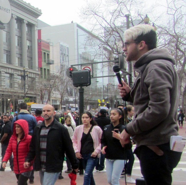 JACOB PREACHES DURING MARCH FOR LIFE AT 5TH AND MARKET.
