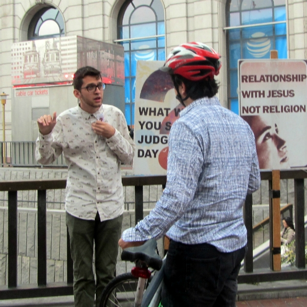 JACOB WITNESSES AT POWELL AND MARKET.