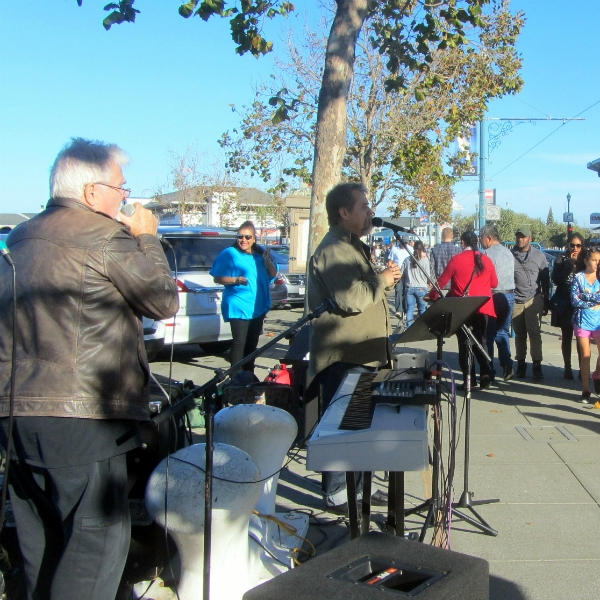 CHUCK GIRARD AND PAUL COCA SING AT FISHERMAN'S WHARF