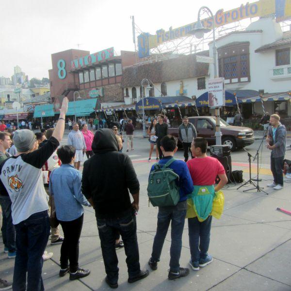 CAL SINGS AT FISHERMAN'S WHARF
