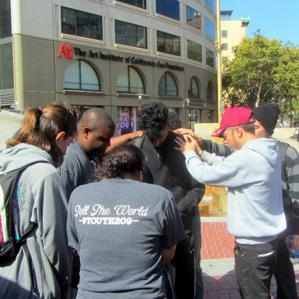 MERCED YOUTH PRAY FOR HASHIM AT UN PLAZA