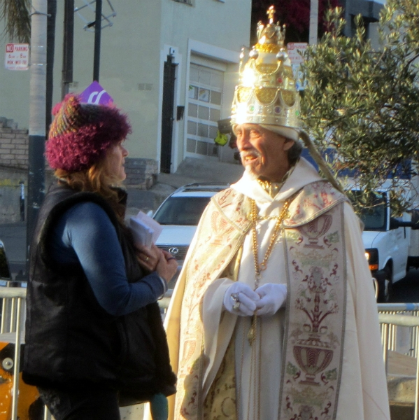 MARY WITNESSES TO PAUL BERNARDINO ON CASTRO ST. HE ORGANIZED OPPOSITION AGAINST OUR MINISTRY IN THE 1980'S.